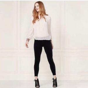 LC Lauren Conrad Black Velvet Leggings